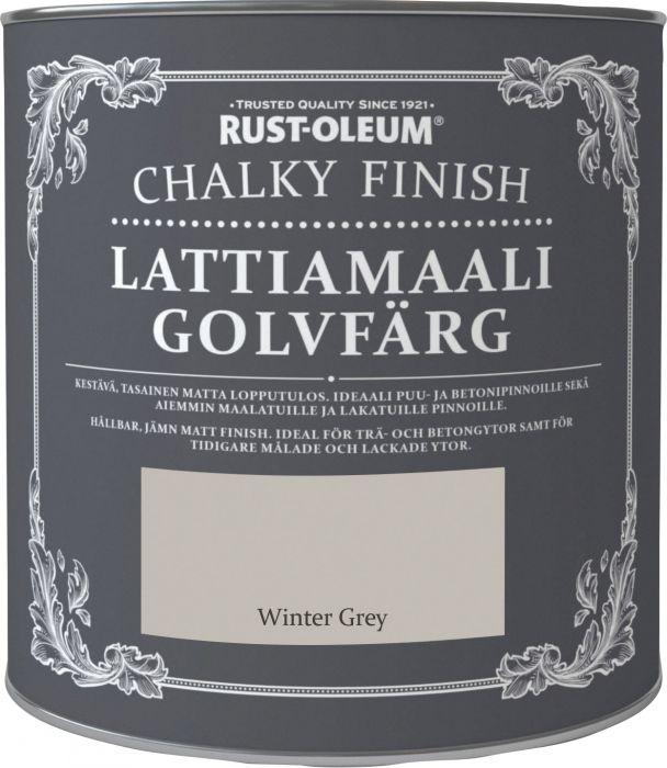 Lattiamaali Chalky Finish 2,5 l Winter grey