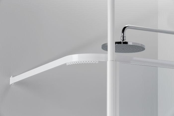 Suihkuverhokisko Vihtan 900 x 900 mm Valkoinen