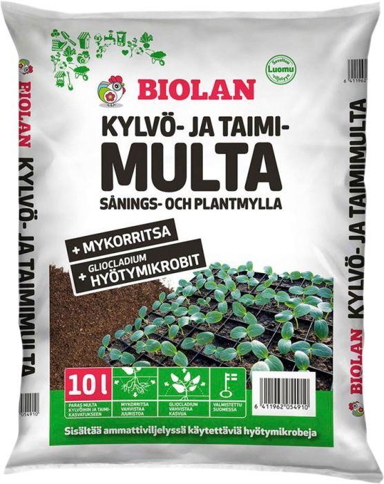 Kylvö- ja taimimulta Biolan 10 l