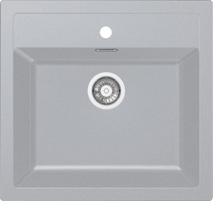 Komposiittiallas Franke Sirius 610 Tectonite Silver
