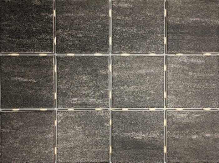 Lattialaatta Alpstone 10 x 10 cm Mustanharmaa