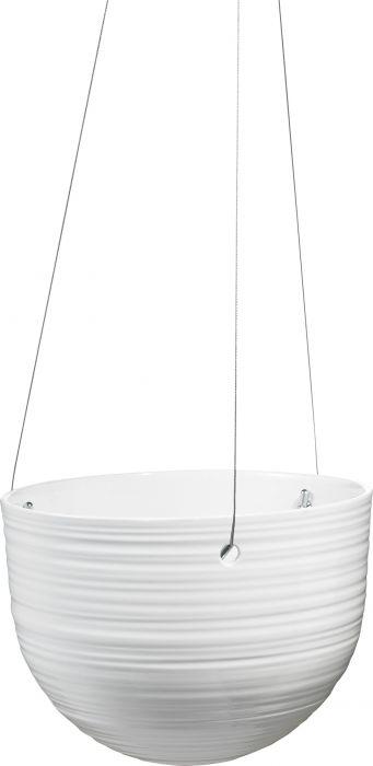 Amppeliruukku Bergamo 18 cm valkoinen