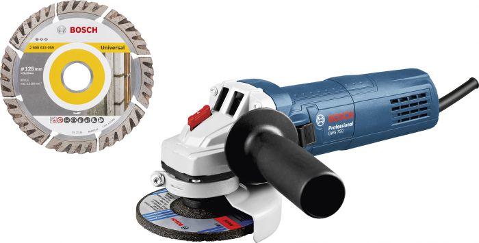Kulmahiomakone Bosch GWS 750-125 + Timanttilaikka