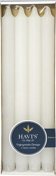 Kruunukynttilä Havi's 29 cm 4 kpl valkoinen