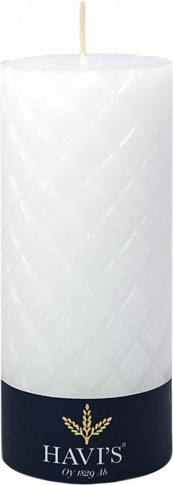 Kuviopöytäkynttilä Havi's 7 x 15 cm valkoinen