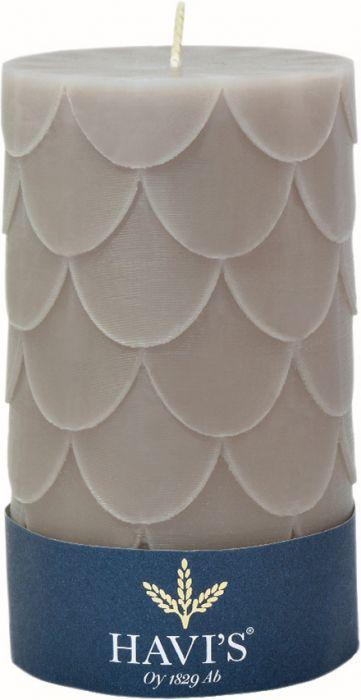 Pöytäkynttilä Havi's Petals 8 x 13 cm harmaa
