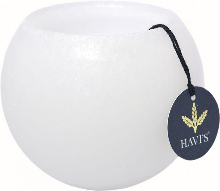 Pallokynttilä Havi's 10 cm valkoinen