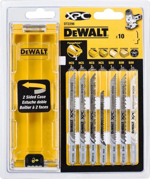 Pistosahanteräsarja DeWalt DT2296 10 kpl