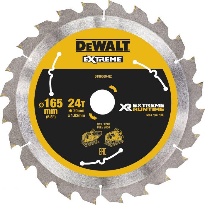 Pyörösahanterä DeWalt Extreme Runtime DT99560 165 x 20 mm 24T