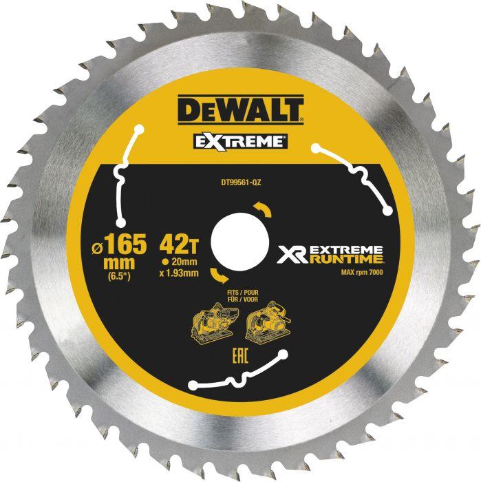 Pyörösahanterä DeWalt Extreme Runtime DT99561 165 x  20 mm 42T
