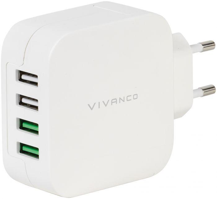 Kotilaturi Vivanco nopea 4 x USB 4.8 A