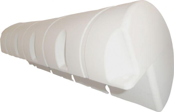 Pyöreä laiturilepuuttaja Talamex 110 x 24 x 24 cm Valkoinen