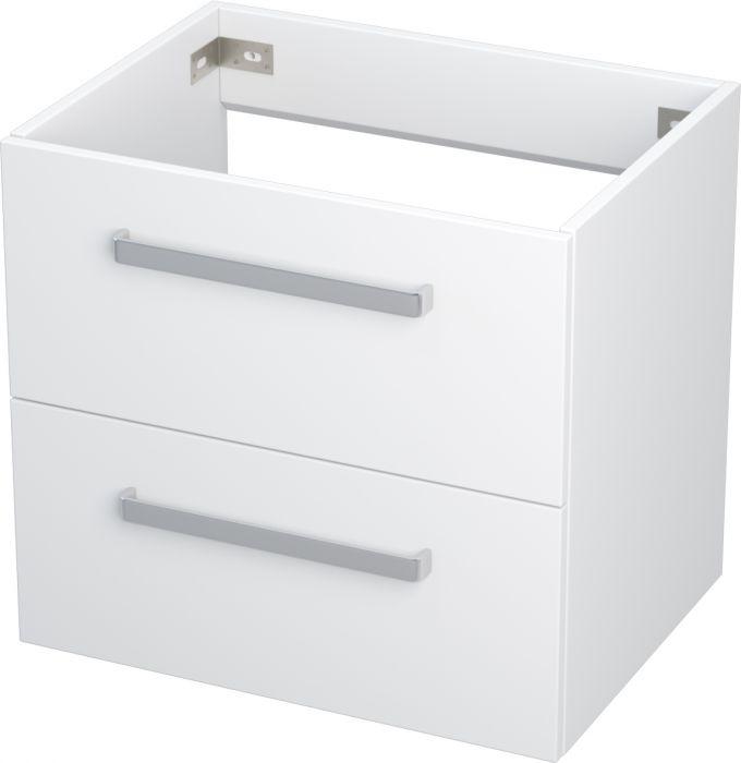 Allaskaappi Camargue Nord  laatikolla valkoinen 60 cm