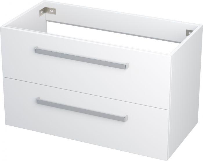 Allaskaappi Camargue Nord  laatikolla valkoinen 90 cm