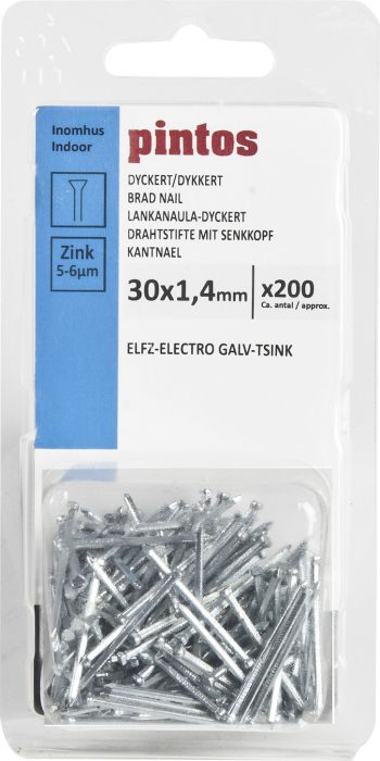 Lankanaula-Dyckert Pintos 30 x 1,4 mm Sähkösinkitty
