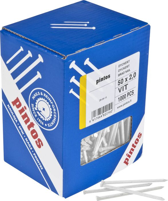 Dyckert-naula Pintos 50 x 2,0 mmValkoinen