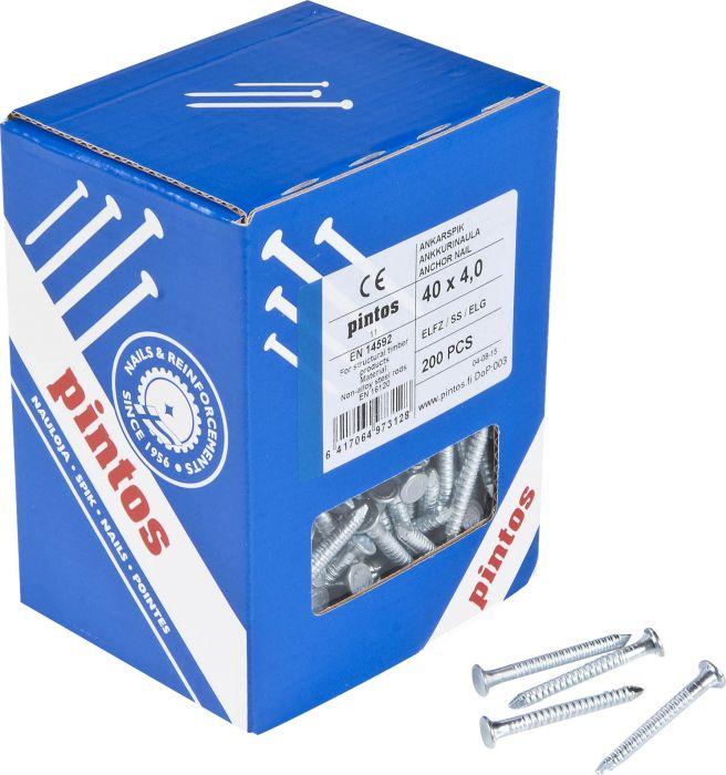 Ankkurinaula Pintos Sähkösinkitty 40 x 4,0 mm