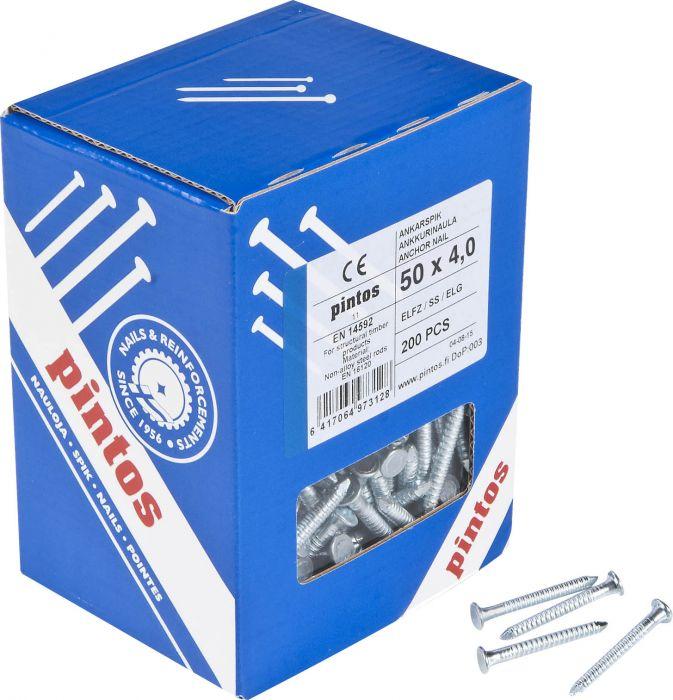 Ankkurinaula Pintos Sähkösinkitty 50 x 4,0 mm