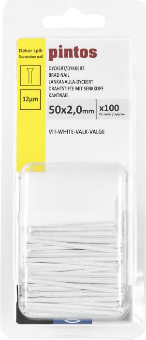 Dyckert-naula Pintos Valkoinen 50 x 2,0 mm