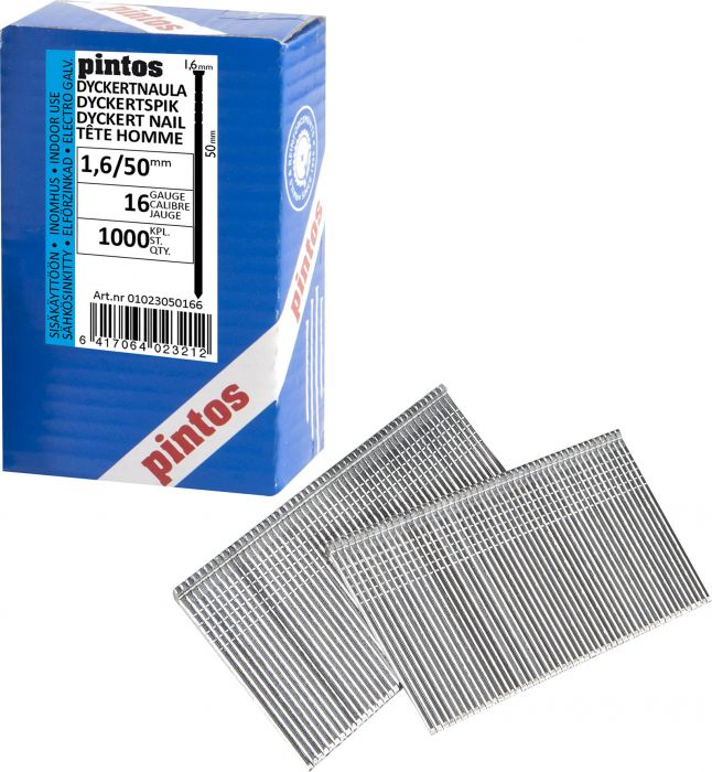 Dyckert-naula Pintos 1,6 x 50 mm SS T1 16 G