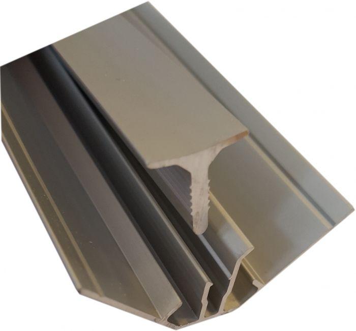 Sisäkulmalista Fibo 2-osainen Alumiini