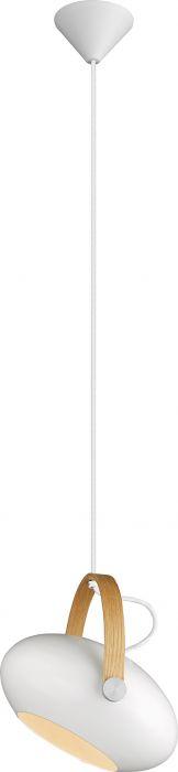 Riippuvalaisin Halotech D.C Valkoinen/tammi Ø26 cm