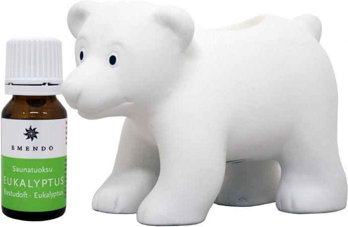 Saunakarhu Valkoinen +  tuoksu 10 ml Emendo