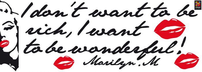 Julistetarra Plage Marilyn