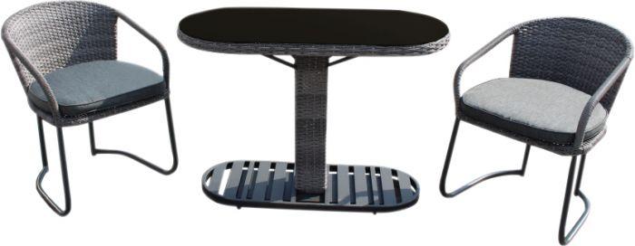 Parvekesetti pöytä ja 2 tuolia