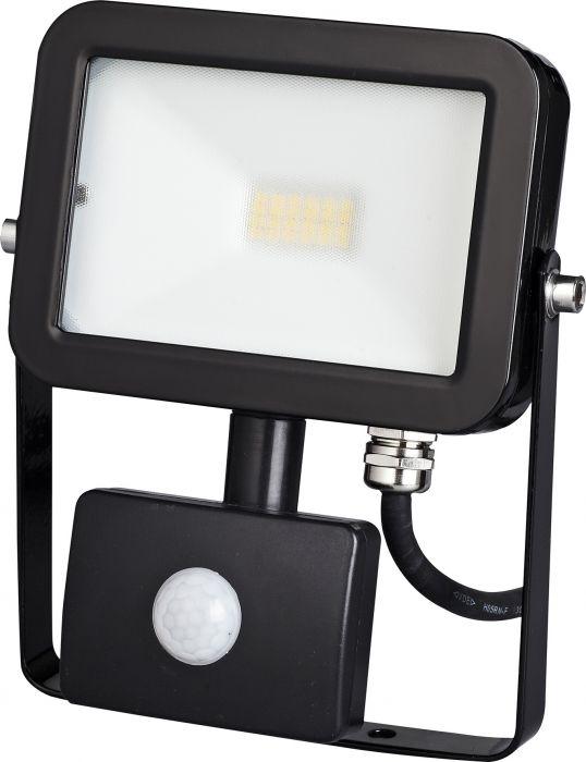 LED-valonheitin ElectoGEAR PIR 10 W Musta
