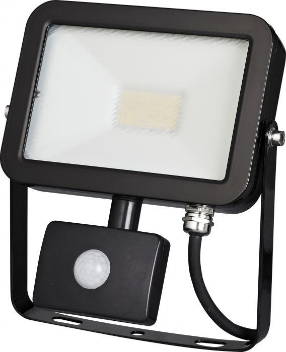 LED-valonheitin Harju PIR 20 W Musta