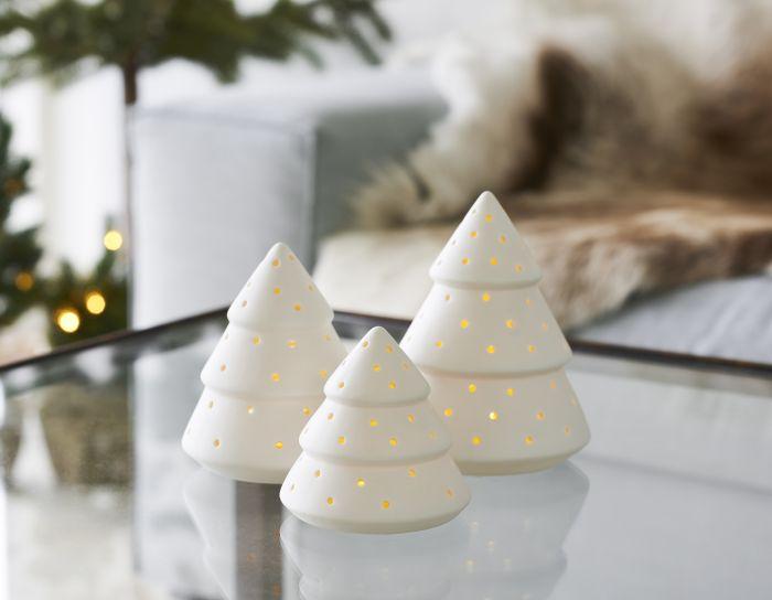 LED-kynttilä Sirius Olina keraaminen puu medium