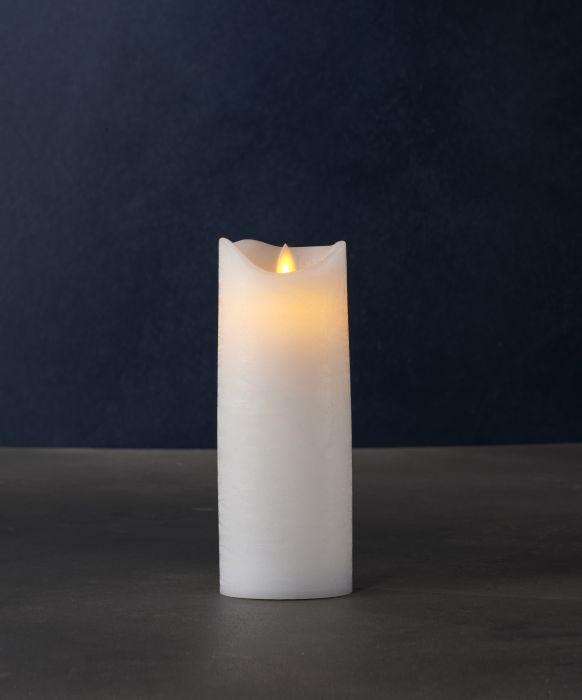 LED-kynttilä Sirius Sara valkoinen 20 cm