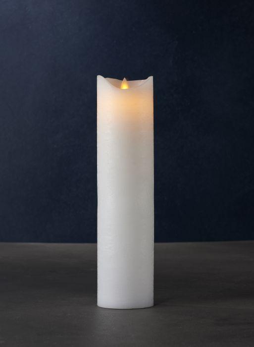 LED-kynttilä Sirius Sara valkoinen 30 cm