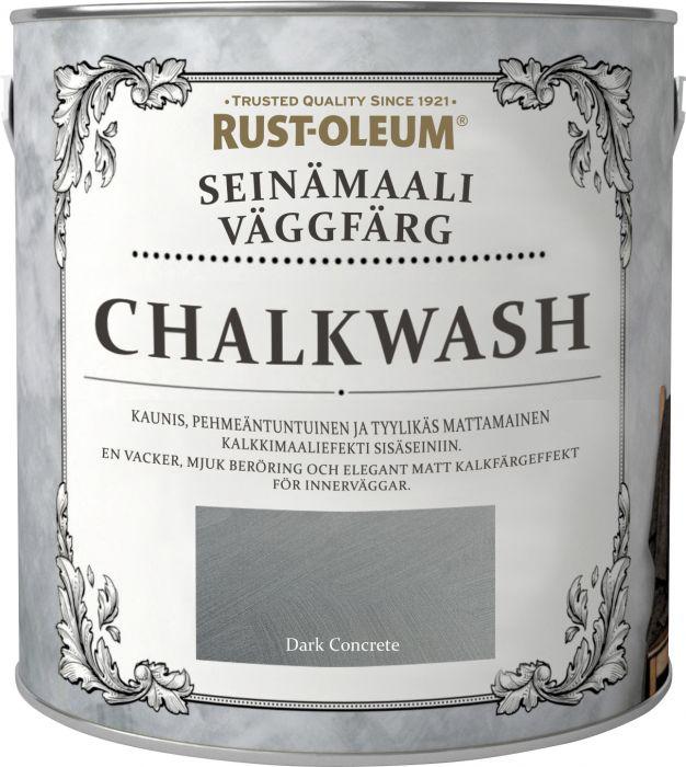 Seinämaali Rust-Oleum Chalkwash Dark Concrete 1 l