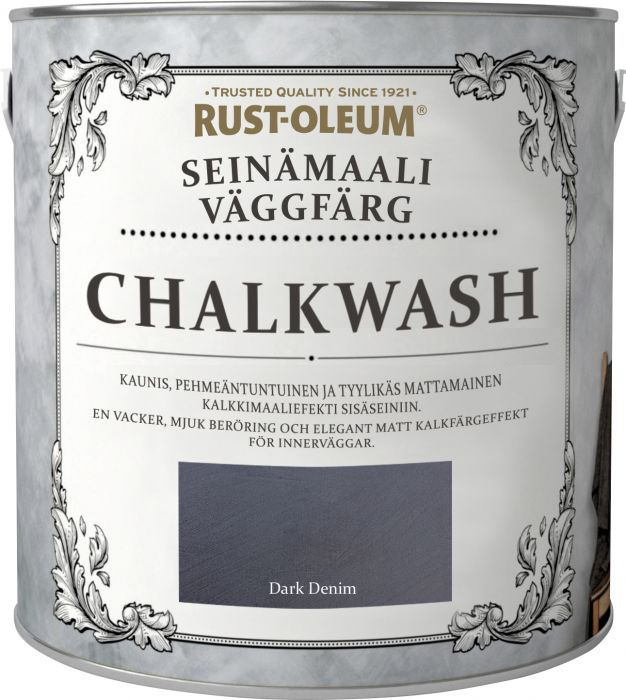 Seinämaali Rust-Oleum Chalkwash Dark Denim 1 l