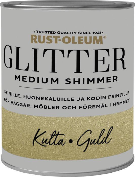 Sisustusmaali Rust-Oleum Medium Glitter Gold 750 ml