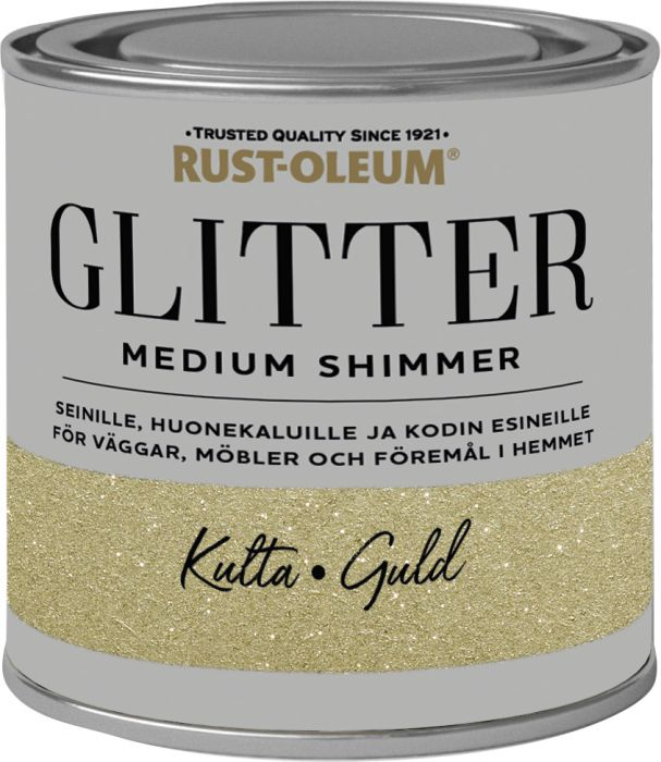 Sisustusmaali Rust-Oleum Medium Glitter Gold 250 ml