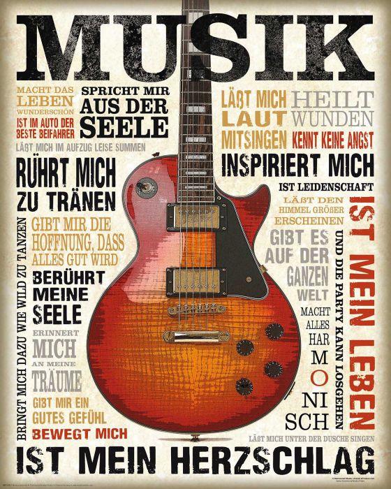 Sisustustaulu Musik Ist Leidenschaft