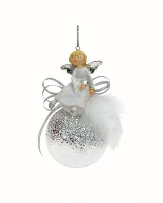 Joulukuusenpallo 65 mm enkelikoriste