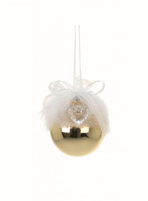 Joulukuusenpallo 65 mm kulta