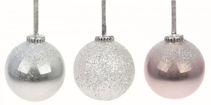 Joulukuusenpallo 65 mm glitteri