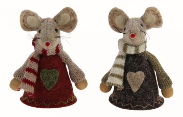 Joulukoriste hiiri 8 cm