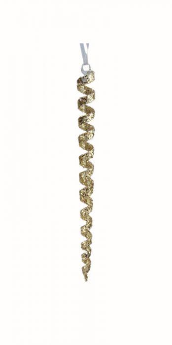 Jääpuikko Weiste lasikierre 20 cm kulta