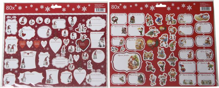 Joulutarra pakettikortit 80 kpl