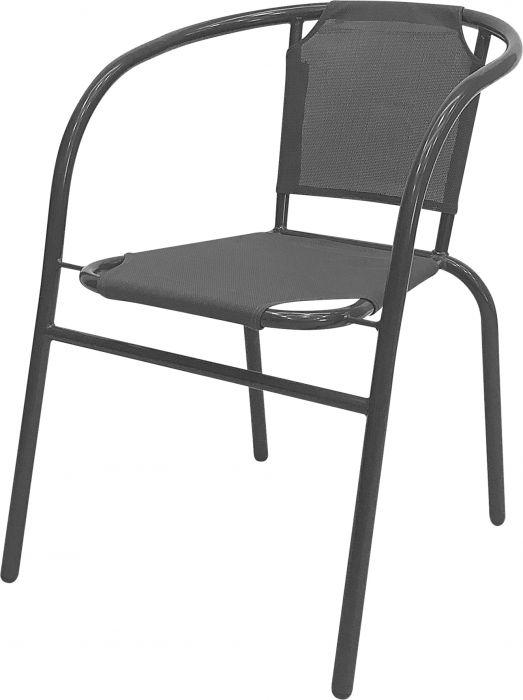 Puutarhatuoli Bistro tummanharmaa