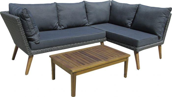 Kulmasohva SunFun Carina + pöytä