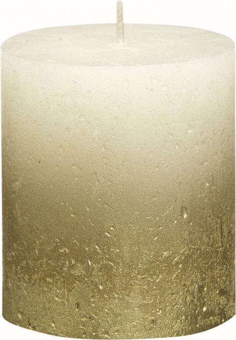Pöytäkynttilä 8 x 6,8 cm liukuvärjätty kulta-norsunluu