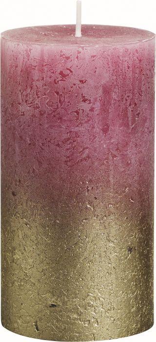 Pöytäkynttilä 13 x 6,8 cm liukuvärjätty kulta-vanharoosa