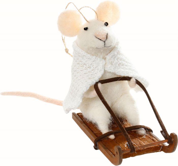 Joulukuusenkoriste hiiri 10 cm